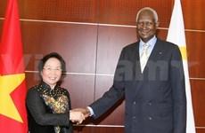 La vice-présidente Nguyen Thi Doan rencontre le secrétaire général de l'OIF