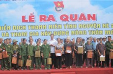 Lancement de la campagne d'été des jeunes volontaires 2014
