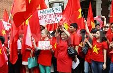 Les Vietnamiens en Russie protestent contre les actes de la Chine
