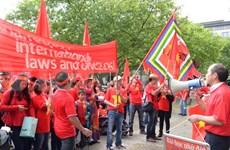 Les Vietnamiens en Allemagne continuent de protester contre la Chine