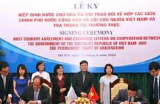 Signature d'un accord de pays hôte entre le Vietnam et la PCA