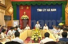 Le chef du Parti en visite de travail à Hà Nam