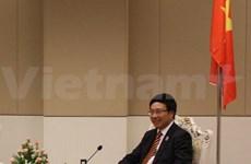 Pham Binh Minh reçoit l'ambassadeur du Brésil