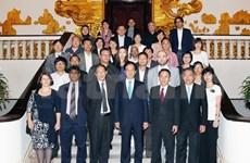 Le Premier ministre reçoit des journalistes asiatiques