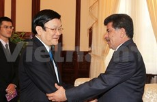Le président Truong Tan Sang reçoit l'ambassadeur du Qatar