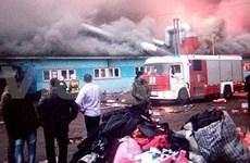 Incendie : 2.800 m² du marché Ba Coi de Vietnamiens en Russie détruits