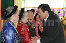 Le président à la fête de grande union nationale à Ha Nam