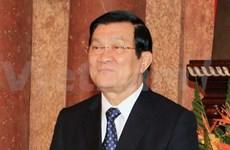 Le président Truong Tan Sang arrive à Pékin pour l'AELM 22