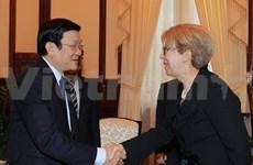 Le président Truong Tan Sang reçoit l'ambassadeur grec