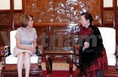 La vice-présidente reçoit la directrice régionale de l'OIF