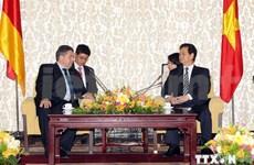 Le PM Nguyen Tan Dung reçoit le vice-chancelier allemand Sigmar Gabriel
