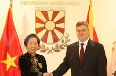 La vice-présidente du Vietnam visite la République de Macédoine