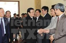 Le chef de l'Etat en visite de travail à Thanh Hoa