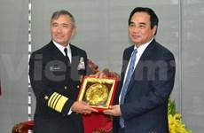 L'amiral, commandant de la flotte américaine du Pacifique à Da Nang