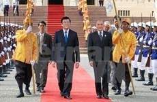 Entrevue entre le président Truong Tan Sang et le Roi Norodom Sihamoni