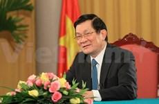 """Message du président pour 2015: tous """"unis"""" pour la gloire du Vietnam"""