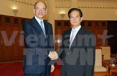 Le chef du gouvernement reçoit l'ex-PM italien Letta