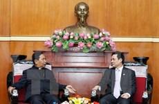 Le dirigeant du Front de la Patrie reçoit une délégation de l'Eglise presbytérienne du Vietnam