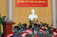Conférence sur le bilan 2014 du Bureau présidentiel