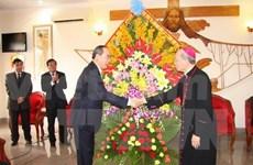 Nguyen Thien Nhan formule ses meilleurs voeux aux dignitaires de Thanh Hoa