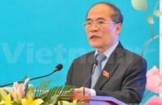 Nguyen Sinh Hung rencontre des femmes députées avant l'UIP-132
