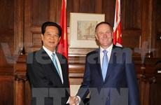 Entretien entre les PM vietnamien et néo-zélandais