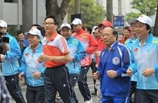 Les habitants de Hanoi font écho à la course pour la santé