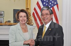 La Congresswoman Nancy Pelosi reçoit l'ambassadeur du Vietnam