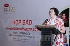 Lancement du prix Kova 2015