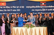 Vietnam-Laos : renforcement de la coopération dans l'emploi et le bien-être social