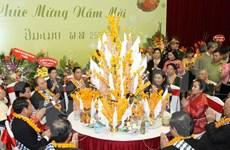 Echange d'amitié pour saluer le Nouvel An traditionnel de pays asiatiques
