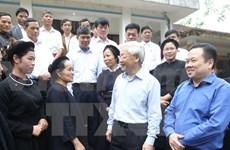 Le leader du PCV souligne les potentiels économiques de Cao Bang
