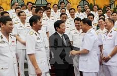 Le chef de l'Etat apprécie les exploits de la Marine populaire