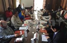 Une délégation du Parti en visite de travail au Venezuela et au Chili
