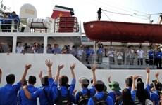 Mise en route du voyage de la jeunesse pour la mer et les îles