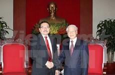 Le secrétaire général du FMLN du Salvador en tournée au Vietnam