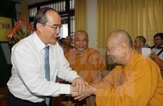 Le chef du Front de la Patrie formule ses voeux à l'Eglise bouddhique du Vietnam