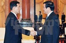 Le chef de l'Etat reçoit le ministre sud-coréen de la Défense