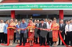 Truong Tan Sang à l'inauguration de l'aéroport international laotien d'Attapeu