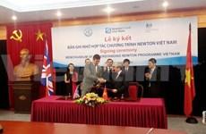 Vietnam-Royaume-Uni: un mémorandum de coopération sur le programme Newton