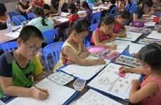 Une centaine d'enfants à un concours international de peinture