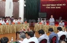 Le président de l'AN en visite dans la province de Nam Dinh