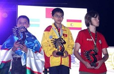 Le Vietnam termine premier aux Championnats du monde de la Jeunesse de parties rapides et de blitz