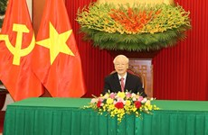 Vietnam-Cuba: conversation téléphonique entre Nguyen Phu Trong et Miguel Diaz-Canel Bermudez