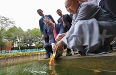 La fête des Tao Quân: L'ambassadeur des Etats-Unis au Vietnam relâche des carpes à Hanoi