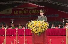 Des forces prêtes à assurer la sécurité du 13e Congrès national du Parti