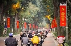 Les rues de la capitale décorées pour accueillir le 13e Congrès national du Parti