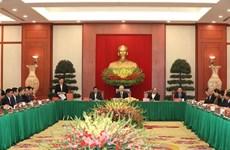 Rencontre avec d'anciens membres du BP, du Secrétariat et du CC du Parti du 12e mandat