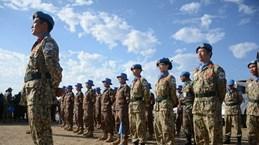 Les casques bleus vietnamiens à la célébration de la Journée de l'ONU au Soudan du Sud
