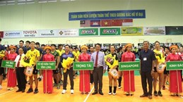 Volley-ball : ouverture de la Coupe de la Télévision de Vinh Long